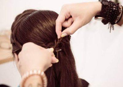 Haare hochstecken